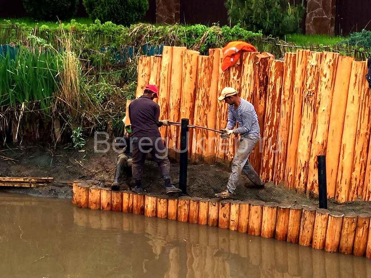 Укрепление берегов лиственницей своими руками 28