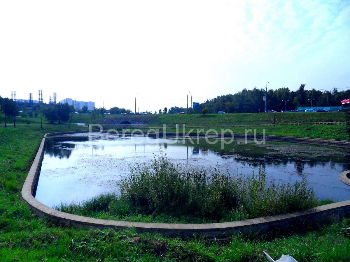 Строительство и укрепление пруда на Никулинской улице
